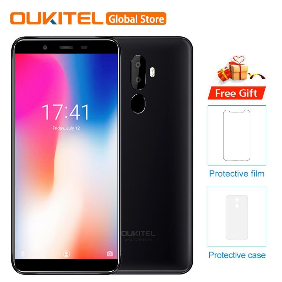 """OUKITEL U25 PRO 5.5 """"2.5D Android 8.1 MT6750T Octa Core 4GB 64GB 13MP + 2MP/5MP smartphone 3200mAh di Impronte Digitali Del Telefono Mobile-in Telefoni cellulari e smartphone da Cellulari e telecomunicazioni su  Gruppo 1"""