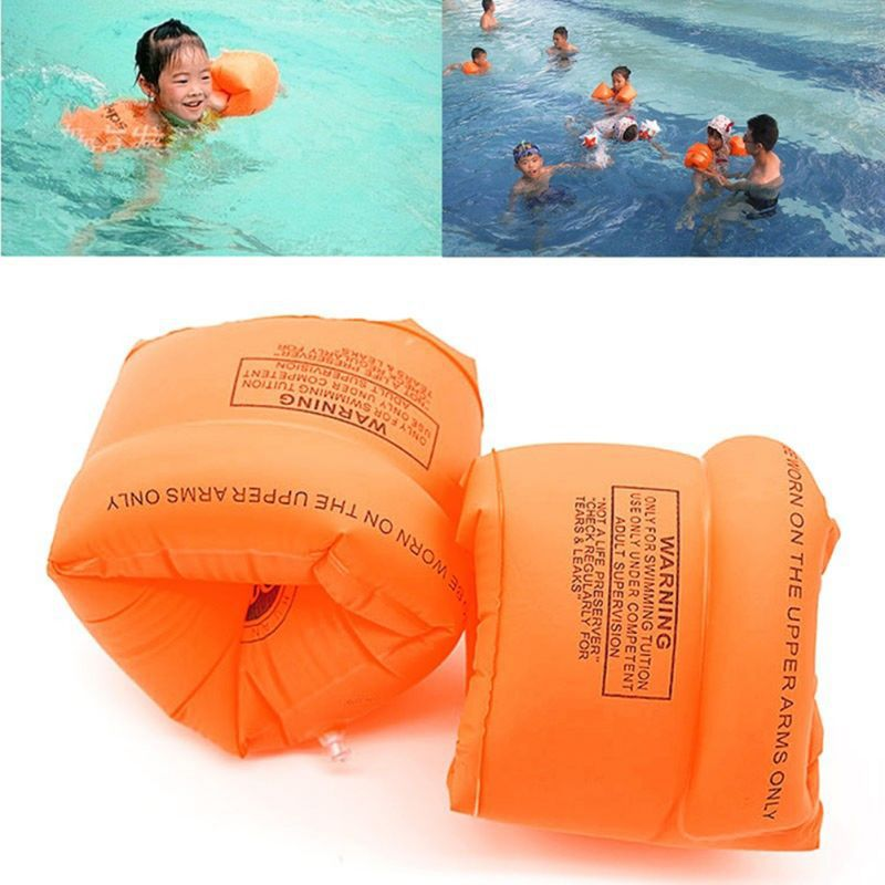 Swim Arm Floats For Children Adult Double Airbag Inflatable Armbands Inflatable Swimming Lifebuoy Trainer Pool Toy
