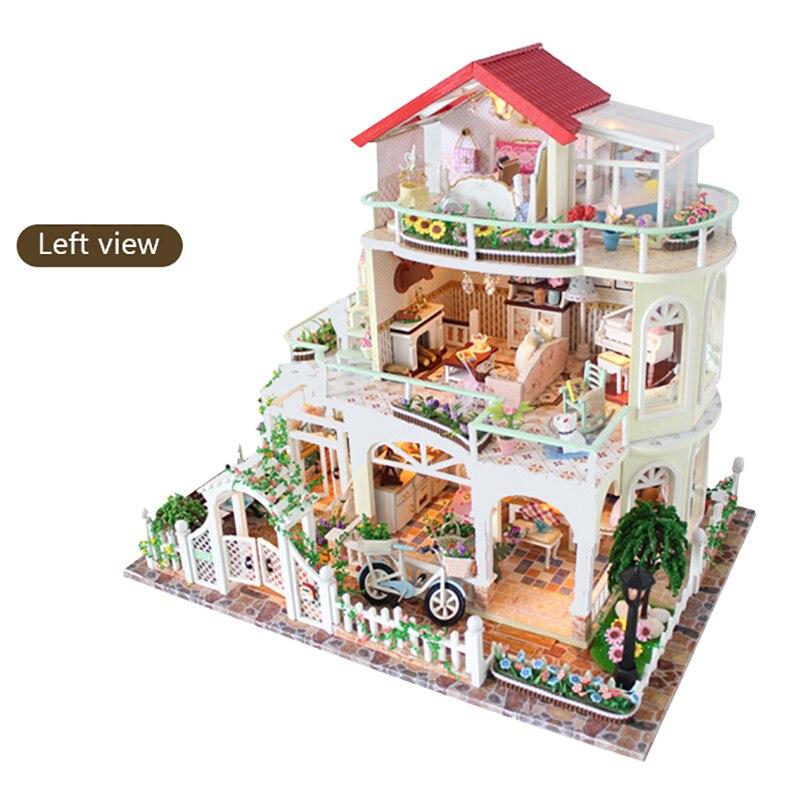 Bricolage maison de poupée cadeau de noël modèle jouets pour lumière éternelle maison de poupée Mini bâtiment Minature artisanat décorations pour la maison 13845 - 4