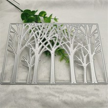 Tree Cutting Dies Background Metal Stencils for Card Making Decorative Forest Embossing Suit Paper Cards Stamp DIY