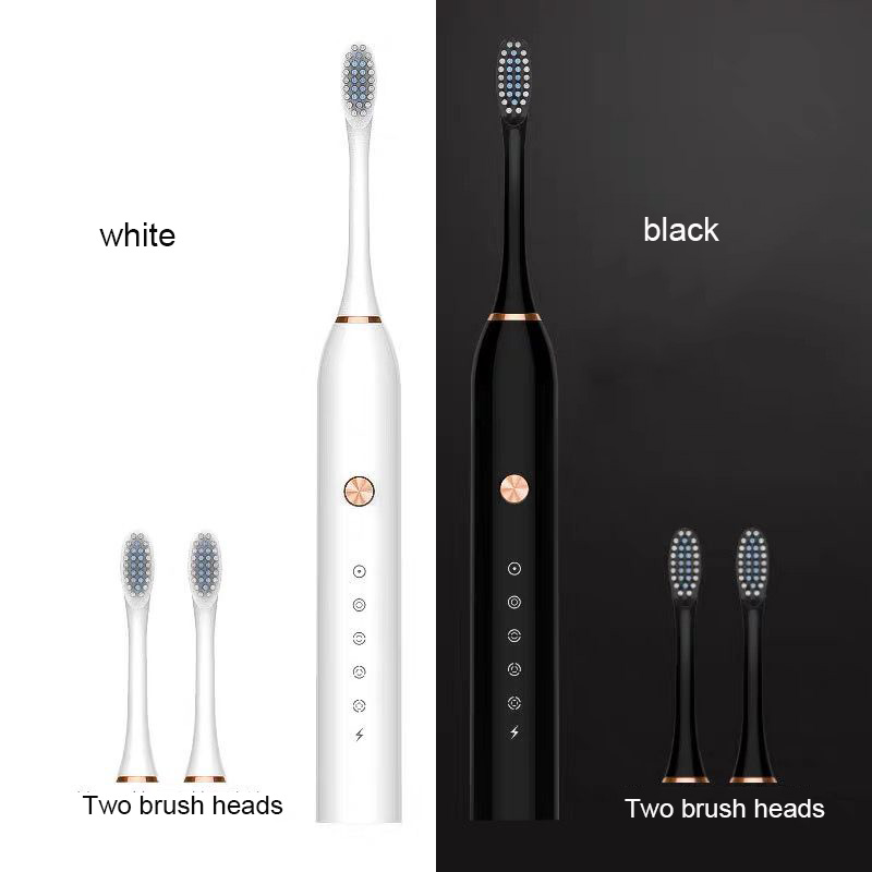 Electric Toothbrush Ultrasonic Deep Cleaning Machine Toothbrush Head Replaceable Smart Chip Sonic Toothbrush
