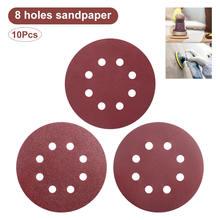 10 шт шлифовальные диски круглой формы зернистость 125 мм 60