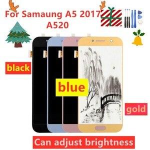 Image 1 - 100% اختبار LCD لسامسونج غالاكسي A5 2017 A520 A520F SM A520F شاشة تعمل باللمس محول الأرقام استبدال أجزاء أدوات مجانية