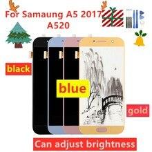 Pantalla LCD 100% probada para SAMSUNG Galaxy A5 2017 A520 A520F SM A520F, digitalizador de pantalla táctil, piezas de repuesto, herramientas gratuitas