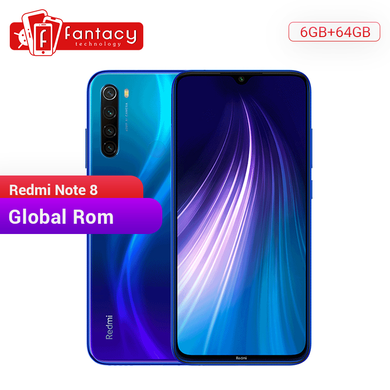 In Stock Global ROM Xiaomi Redmi Note 8 6GB 64GB 48MP Quad Camera Smartphone Snapdragon 665 Octa Core 6.3