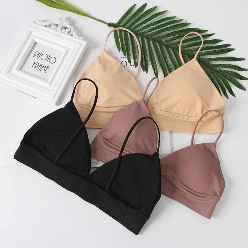 Gumbrun suave bralette v profundo sem costura sutiãs para mulher sem fio push up bra confortável sem preto lingerie senhoras sexy