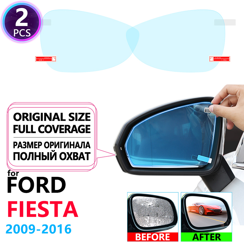 Full Cover Anti Fog Film Rainproof Rearview Mirror For Ford Fiesta MK7 ST 2009~2016 Car Stickers Accessories 2010 2013 2014 2015