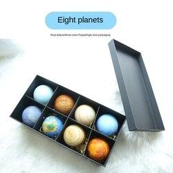 3d-светильник на солнечной батарее, ночник с восьмизвездами, Подарочная коробка, креативный светильник ing Moon, светильник с Луной, украшение, с...
