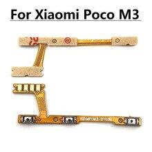 10PCS เปลี่ยนสำหรับ Xiaomi Poco M3เปิดปิดปุ่มปรับระดับเสียง Flex Cable