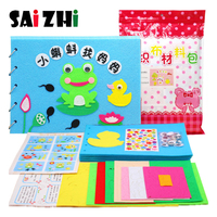 Saizhi Non woven Story Picture Book DIY Kindergarten Handmade Material Box Nonwoven Fabric Parent And Child Educational Toy