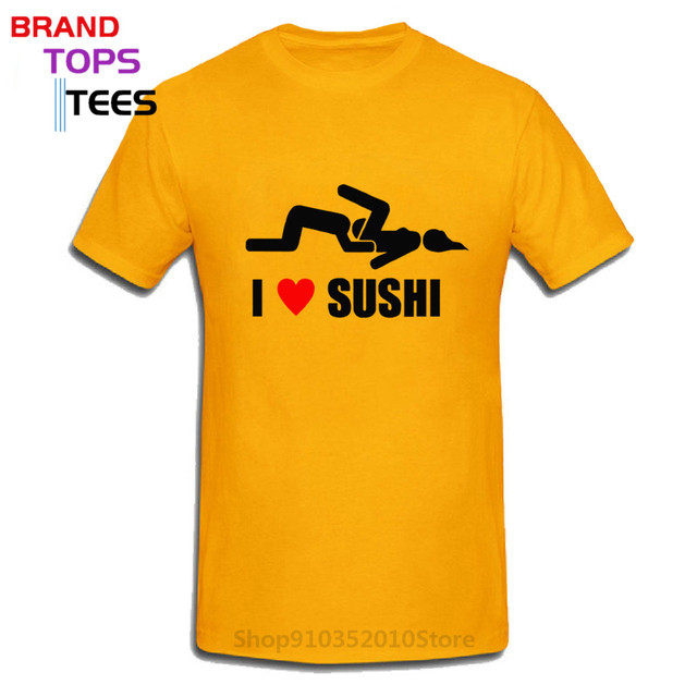 Baumwolltasche Jutebeutel Imprimé I Love Sushi Poisson Oral Sex éco durable