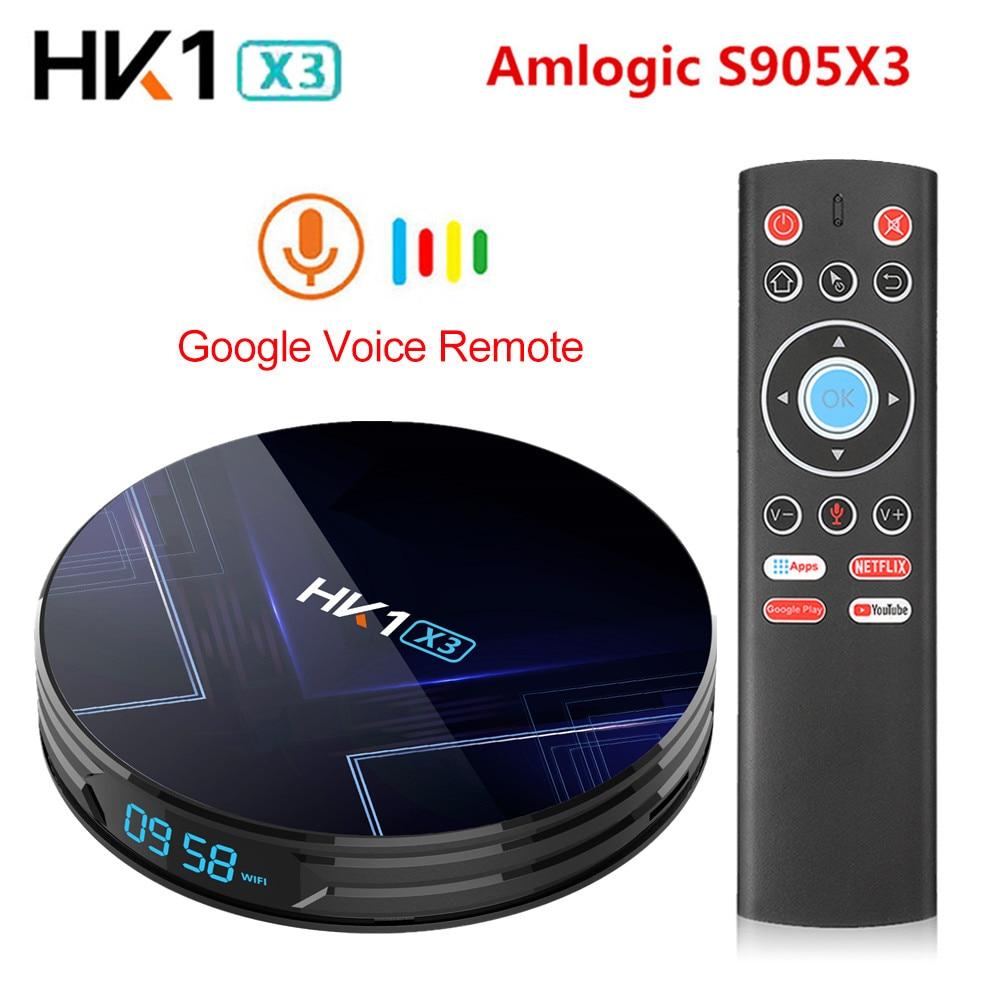 Android 9.0 HK1 X3 1000M Smart TV Box Amlogic S905X3 8K 4GB 128GB 64GB 32GB 2.4G&5G Wifi 4K Media Player IPTV TV Box PK H96 MAX