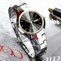 ONTHEEDGE часы из вольфрамовой стали Мужские кварцевые часы водонепроницаемые деловые ультра-тонкие студенческие часы для пары
