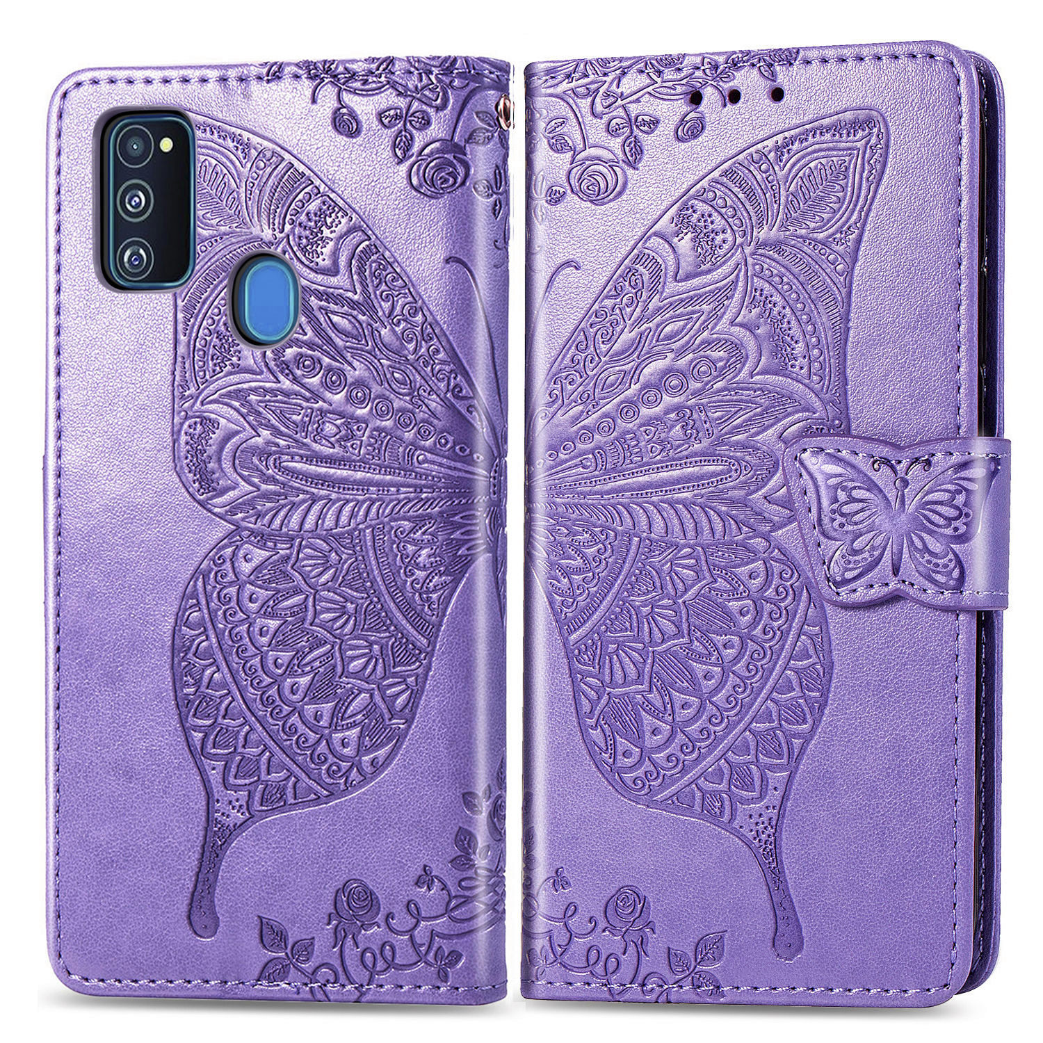 Butterfly <font><b>Case</b></font> For <font><b>Samsung</b></font> Galaxy M31 M21 M30s <font><b>Flip</b></font> Cover Leather Phone <font><b>Case</b></font> for <font><b>Samsung</b></font> Galaxy <font><b>M20</b></font> M30 M10 Funda image