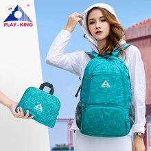 PLAYKING mochila plegable impermeable para viajes al aire libre, bolsa ligera plegable, para deporte, senderismo, gimnasio, camping, trekking