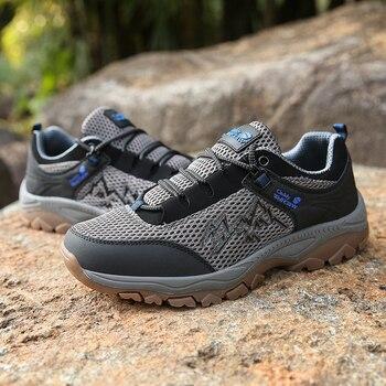 Damyuan scarpe da trekking da uomo traspiranti antiscivolo uomo scarpe sportive da montagna all'aperto scarpe da lavoro da passeggio indossabili misura grande 39-48 1
