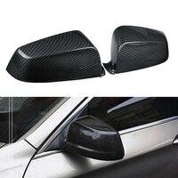 Carbon Fiber Side Rear View Mirror Cover Trim for BMW 5 Series E60 F10 F02 2008-12