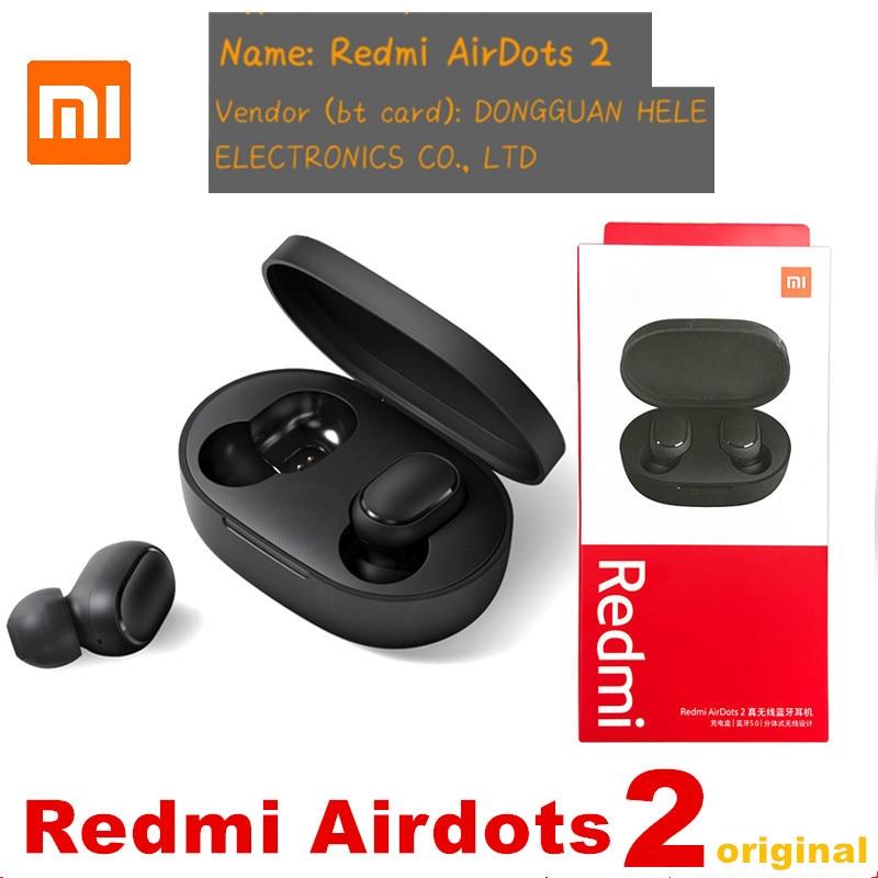 TWS-наушники Xiaomi Redmi Airdots 2, bluetooth 5,0, с микрофоном и шумоподавлением