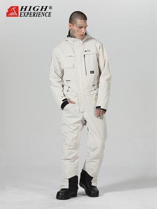 2019 New Ski Suit Jumpsuit Suit Waterproof Windproof Ski Pants Men And Women Single Board Double Board Warm Snow Suit,