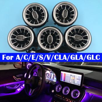 Samochód odpowietrznik turbina oświetlenie otoczenia LED kolory lampa dla Benz A C E S V CLA GLA GLC klasa W176 W205 W213 W222 W447 W117 W156 X253 tanie i dobre opinie oeny NONE CN (pochodzenie) Klimatyczna lampa