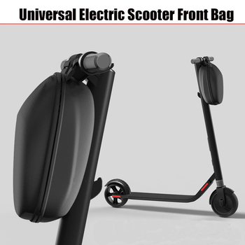 Electric Scooter Front Bag For Xiaomi Mijia M365 Replacement Head Handle Bag Zipper Up EVA Ninebot Tool Storage Hanging Bag scooter head handle bag life waterproof for xiaomi mijia m365 electric scooter ninebot es1 es2 tool charger battery bottle bag