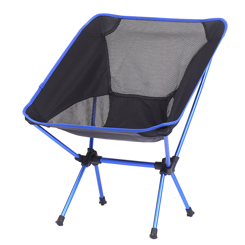Outdoor Folding Chair Portable Backrest Fishing Chair Stool Open Country Courtyard Ultra-Light Beach Casual Moon Lying Chair