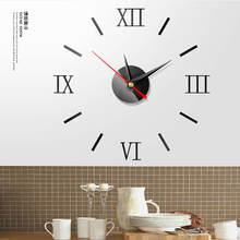 DIY Wall Clock Mirror Wall Stickers Creative 3D Wall Clocks Removable Art Decal Sticker Home Decor Living Room Quartz Needle hot 14 inch creative transparent suspension wall clocks nordic simple quartz clock home living room wall decor