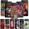 Smartphone Case For Samsung Galaxy Z Flip3 5G Z Flip 3 z flip ZF 5G Cover PC Capa Hard Funda Coque Marvel superheroes