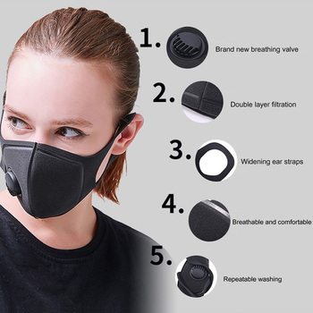 In Stock Filter Mouth Masks Anti Dust PM2.5 Flu Reusable Face Mask Breathable Outdoor Sports Cover Prepper Q40 - discount item  60% OFF Cycling