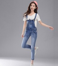 Women Sexy Slim Blue Cotton Denim Pants Jumpsuits Long Sleeveless Jumpsuits Streetwear Casual Jeans Romper Overalls цена