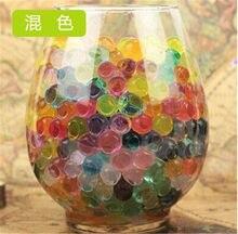 100 pçs/saco cristal do solo envasado multicolorido contas de cristal gel bola polímero hidrogel grânulos de cristal crescimento magia jelly casamento