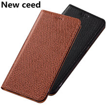 Genuine Leather Magnetic Stand Phone Bag Case For Motolora Moto One Action Flip Case For Motolora Moto One Vision Case Card Slot(China)