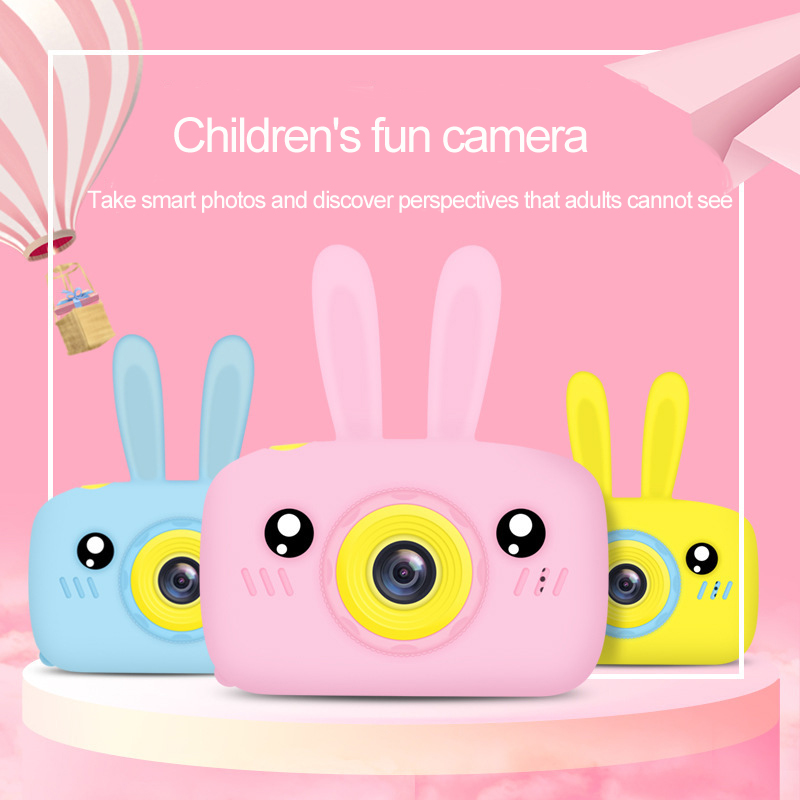 Rabbit Ear HD 1080P Digital Mini Camera Kids Cartoon Cute Camera Photo Toys Outdoor Photography Props For Child Birthday Gift