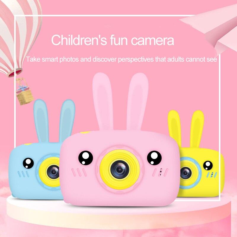 Rabbit Ear HD 1080P Digital Mini Camera Kids Cartoon Cute Camera Photo Toys Outdoor Photography Props For Child Birthday Gift