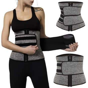 2020 New Waist Trainer Corset Sweat Belt For Women Weight Loss Compression Trimmer Workout Fitness