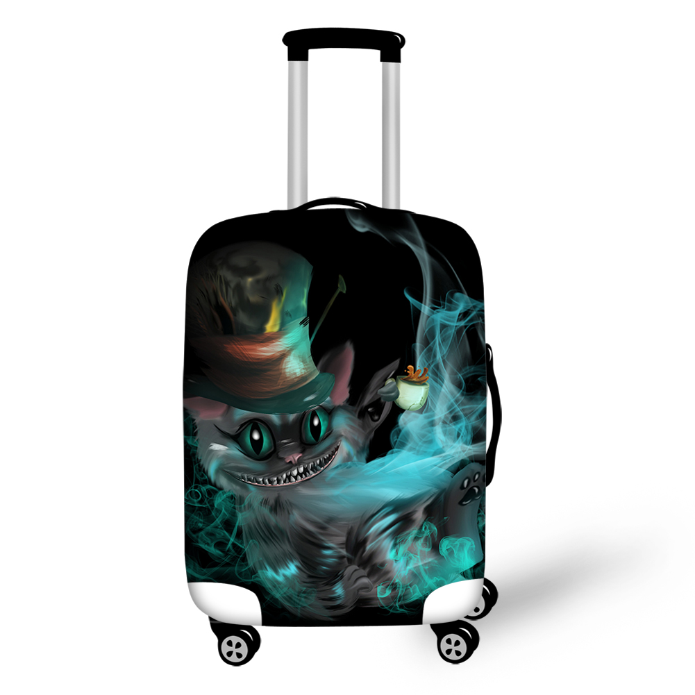 Thikin Gothic Style Cheshire Cat Travel Luggage Cover With Tag Convenience Box Case Simple Covers For Tourism Daily Holiday