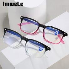 Imwete anti luz azul computador óculos de leitura mulher homem presbiopia óculos diopters + 1.0 1.5 2.0 2.5 3.0 3.5 4.0