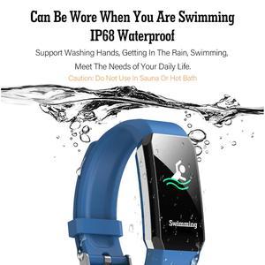 Image 4 - T3 akıllı bilezik termometre vücut sıcaklığı ölçüm kalp hızı akıllı bant izle su geçirmez spor izci