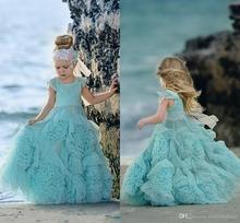 Mint Green Flower Girl Dresses Special Occasion For Weddings Ruffled Pageant Gowns Flowers  Lace Party Communion Dress 2017 two pieces lace flower girl dresses for weddings vintage pageant gowns communion