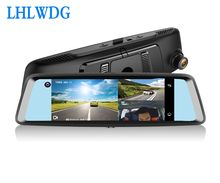 Mirror DVR 4G 3 Lens Dash Cam 7 Inch Car Dashboard Camera HD 1080P Night Vision Front + Inside +Rear Parking Monitor ADAS