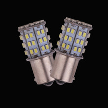 2pcs Car Led Light T20-7443 64 SMD Bulb 1156 1157 P21W Ba15d Brake Reverse Lights High Bright 12V Universal