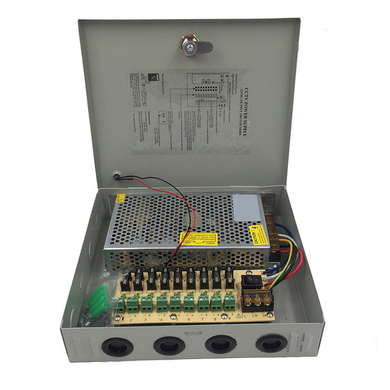AC220V To D12V Power Supply 12V10A 12V15A 12V20A 12V30A Switching Power Supply 9 Output Monitoring Centralized Power Adapter