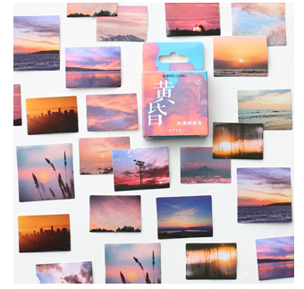 S143- Beautiful Sunset Diy Decorative Sticker(1pack=46pieces)