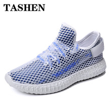 2019 Fashion New Men Running Shoes Breathable Fly Weave Sneakers Outdoor Air 305 Yeezys Lightweight Walking