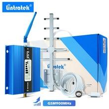 Lintratek display lcd mini gsm repetidor 900mhz celular celular gsm 900 amplificador de reforço sinal + antena yagi com cabo 10m