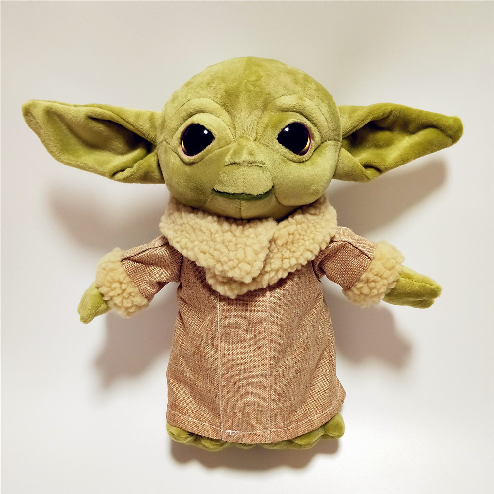 Hot 20/30cm Baby Yoda Plush Doll Toy , Soft Animals Anime Yoda Baby Stuffed Doll Toys For Kids Children Christmas Birthday Gifts