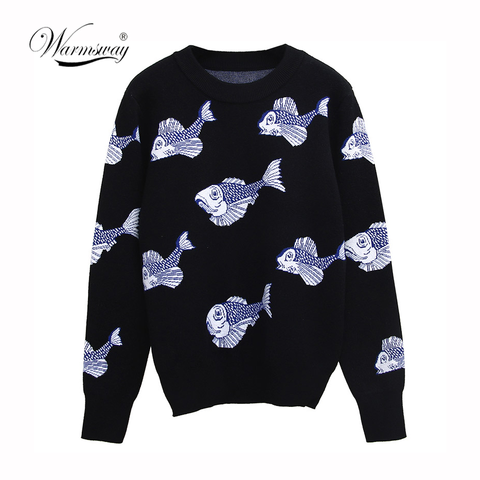 Autumn Winter Cartoon Knitted Women Sweaters Pullovers Long Sleeve Sweater Slim Pull Femme Jumpers Sueter Mujer New C-244