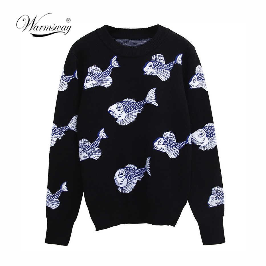 Autunno inverno del fumetto lavorato a maglia delle donne maglioni pullover a maniche lunghe maglione slim Pull Femme jumpers suéter mujer Nuovo C-244