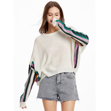 Women Sweater Loose Pullover Knitted Cotton Batwing Sleeve Knit Top Autumn Sweaters Pull Casual Ladies Bat Sleeve Jumper Tops yellow sexy pullover bat sleeves loose jumper