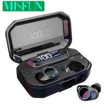 G02 Bluetooth Kopfhörer TWS Drahtlose kopfhörer IPX7 Wasserdichte ohrhörer 5,0 Bluetooth Headset W/MIC 3300mAh Drahtlose kopfhörer